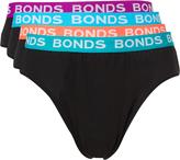 Bonds 4 Pack Hipster Brief Mens Underwear Black