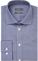 John Lewis Houndstooth Regular Fit Shirt, Navy