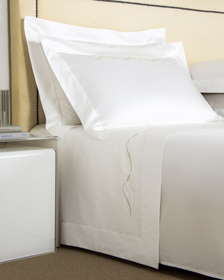 Frette Luminescent Pearls Embroidery Sheet Set