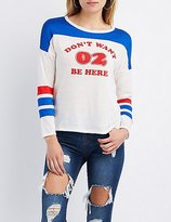 Charlotte Russe Don't Want 02 Be Here Football Tee
