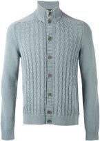 Zanone cable knit cardigan - men - Cotton - 48