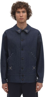 Bode Studded Side-tab Cotton Denim Jacket