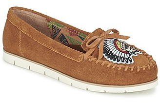 Miss L Fire Miss L'Fire CHIEFTAIN women's Loafers / Casual Shoes in Brown
