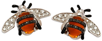 Bumble Bee Staurino Fratelli 18k Nature Stud Earrings