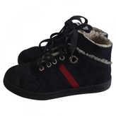 Gucci Blue Suede Boots