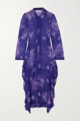 Comme des Garçons Comme des Garçons Printed Georgette Midi Dress - Purple