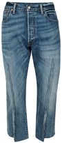 Topman FINDS Blue Desconstructed Cropped Jeans