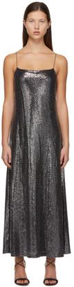 Rosetta Getty Silver Paillette Camisole Dress