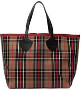 Burberry Ss18 Reversible Check Tote Bag