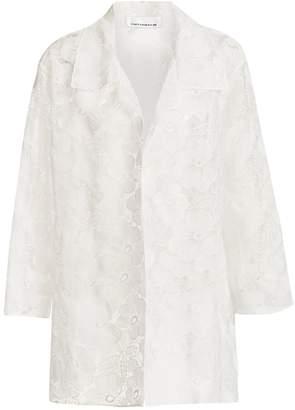 Caroline Rose Caroline Rose, Plus Size Floral Jacquard A-Line Jacket