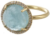 Irene Neuwirth Rose cut aquamarine ring