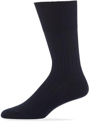 Marcoliani Milano Rib-Knit Cotton Socks