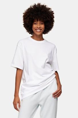 Topman Womens White Oversized T-Shirt - Black