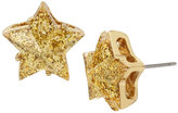 Betsey Johnson Confetti Gold Star Glitter Studs
