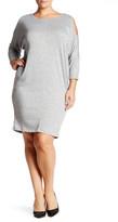 Bobeau Cocoon French Terry Dress (Plus Size)
