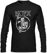 Annora Hayden-Moreland Mens NOFX band Long Sleeve Shirt S Black