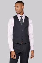 DKNY Slim Fit Charcoal Twill Waistcoat