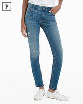 White House Black Market Petite Distressed Skimmer Jeans