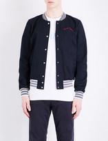 MAISON KITSUNÉ Embroidered twill bomber jacket