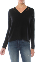 Minnie Rose Cut It Out Cashmere V Neck Sweater