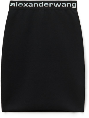 Alexander Wang Logo Elastic Mini Skirt
