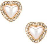 Ettika Pear Heart Stud Earrings