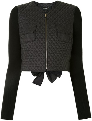 Paule Ka Diamond-Quilted Cropped Jacket