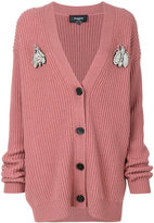 Rochas oversized knitted cardigan - women - Virgin Wool - 40