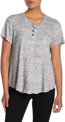 Fifteen-Twenty Textured Knit Short Sleeve Top
