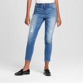 Mossimo Women's High Rise Jegging Crop Medium Blue