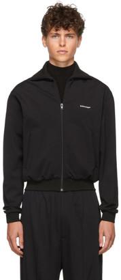 Balenciaga Black Crepe Jersey Zip-Up Jacket
