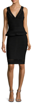 Herve Leger Eyelet Sheath Dress