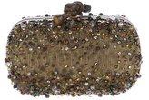 Bottega Veneta Embellished Python Clutch