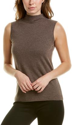 Lafayette 148 New York Mock Neck Cashmere-Blend Sweater