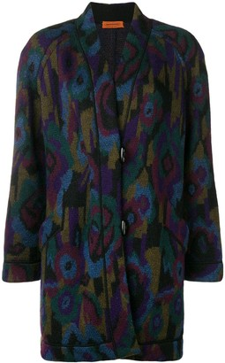Missoni Pre Owned 1980's Floral Boxy Coat