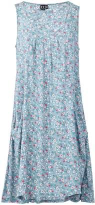 Dorothy Perkins Womens *Izabel London Multi Colour Floral Print Hanky Hem Skater Dress