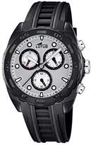 Lotus Men's Quartz Watch with Grey Dial Chronograph Display and Black Rubber Strap 18159/1