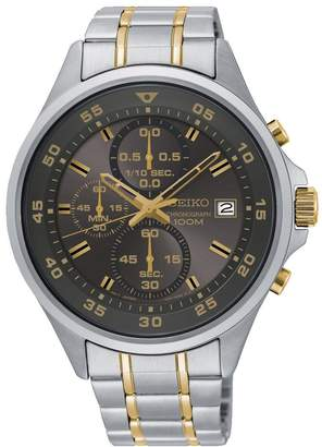 Seiko Blue Dial Mens Stainless Steel Strap Watch
