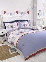 Rapport Double Duvet Cover Set Summer Seaside Beach Huts