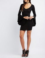 Charlotte Russe Bell Sleeve Bodycon Dress