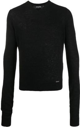 DSQUARED2 knitted V-neck jumper