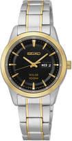 Seiko Womens Two-Tone Stainless Steel Solar Bracelet Watch SUT166