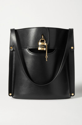 Chloé Aby Smooth And Textured-leather Tote - Black