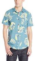 Volcom Men's Brush Palm Short Sleeve Woven Shirt