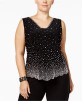 MSK Plus Size Embellished Blouse