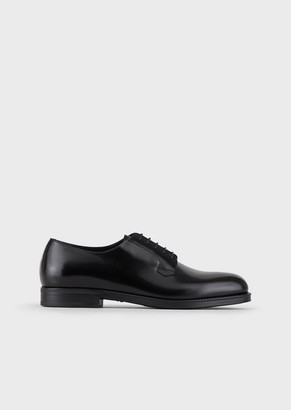 Giorgio Armani Brushed Leather Derby Shoes