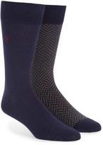 Polo Ralph Lauren Men's 2-Pack Cotton Blend Socks