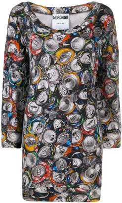Moschino Pre-Owned 1990's can print mini dress