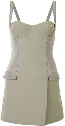 Dion Lee Belted Strap Bustier Mini Dress