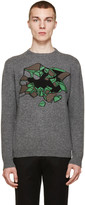 Christopher Kane Grey Mélange Wallbreak Sweater